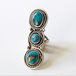 Morenci Arizona Navajo Turquoise Sterling Ring